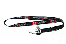 CANADA NAVY COUNTRY FLAG LANYARD KEYCHAIN PASSHOLDER .. NEW