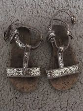 Next Gold Glitter Sandals Shoes Size 7