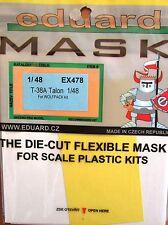 Eduard 1/48 EX478 canopy masque pour les wolfpack northrop T-38A talon kit