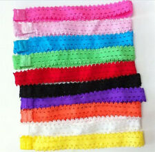 Bulk 10pcs Baby Girl Headband Lace Headwear Elastic Hair Band Hairband Headdress