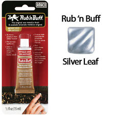 Rub N Buff Wax Metallic Finish Silver Leaf 76308M by AMACO