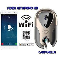 VIDEOCITOFONO CAMPANELLO WIRELESS WIFI SMARTPHONE ANDROID IOS VIDEO CITOFONO 163