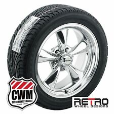 "17 inch 17x7""/17x8"" Retro Polished Wheels Rims Tires for Chevy Camaro 67-81"