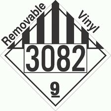 Miscellaneous Dangerous Goods Class 9 UN3082 Removable VinylPLACARD (PACK OF 50)