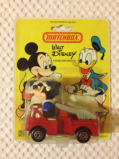 MATCHBOX WALT DISNEY - MICKEY FIRE ENGINE ON BLISTER CARD - WD-1