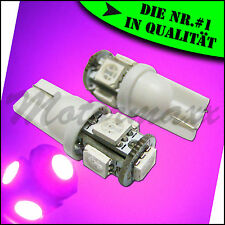 T10,Rosa,Pink,W5W,5 SMD High Power,LED,Standlicht,Autolampe,Birne,Beleuchtung