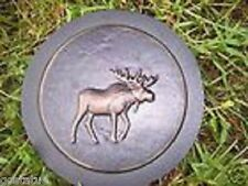 plaster,concrete abs plastic moose stepping stone mold