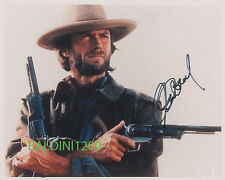 CLINT EASTWOOD SIGNED 10X8 PHOTO,  GREAT FILM STILL IMAGE, LOOKS GREAT FRAMED