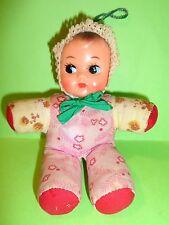 bambola di pezza con fischietto anni 60 70 80 china vintage ragdoll piccola 16cm