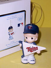 "PRECIOUS MOMENTS ""MY TEAM'S A HOME RUN"" MINNESOTA TWINS ORNAMENT, NIB"