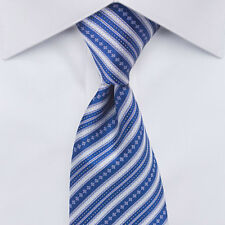 2016 New $275 STEFANO RICCI Blue Striped Silk Tie 59x3.5 in. SR008