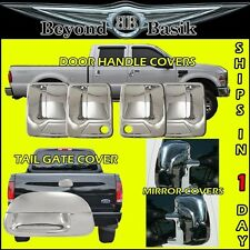 99-07 Superduty 4 Chrome Door Handle Covers 2KH +TailGate+Mirror Covers Towing