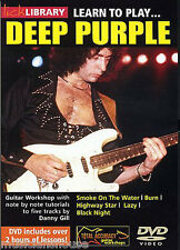Lick Library Learn To Play Deep Purple Smoke On The Water tutor Rock Guitarra Dvd