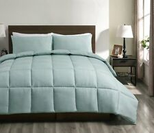 Superbeddings 3 Pieces Aqua Green Down Alternative Comforter Set , Queen