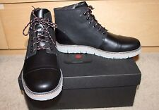 NEW Mens TSUBO Hoshi Black Leather Boots Retail $235 over 55% Off! SIZE 10.5