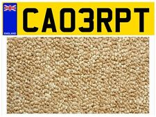 BERBER CARPET FITTING FITTER PRIVATE NUMBER PLATE ADVERTISE YOUR BUSINESS!