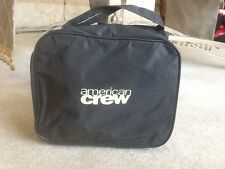 NWOT AMERICAN CREW Black Toiletry Carry On Travel Storage Bag w/Handle & Zipper
