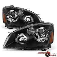 Left Right Halogen Headlights Headlamps Set for a 05-06 Nissan Altima Black