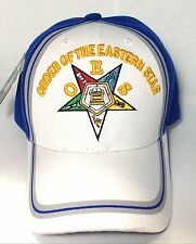 OES, Order Of The Eastern Star, Mason Cap, Oes Cap, 2tone Color White And Royal