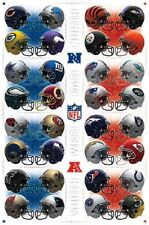 2013 NFL FOOTBALL TEAM HELMETS LOGO POSTER NEW 22x34 FAST FREE SHIPPING