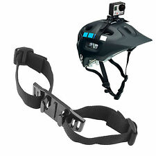 GOPRO HERO 3+ 3 2 1 VENTED HELMET STRAP MOUNT CYCLE BIKE MOTO SKI BOARD SKATE