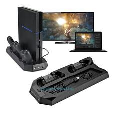PS4 Vertical Stand Cooling Fan, PlayStation 4 Console Cooler with Charging
