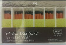 Protaper Universal F4 Gutta Percha Points Dentsply Tulsa Box of 60 Dental Endo