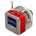 Portable Mini Digital Speaker Music MP3/4 Player Micro SD/TF USB Disk FM Red NEW