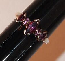 STERLING SILVER 925 RING 7 Purple Stones Size 7.75 Pretty Setting