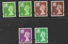 Wales. 1997. W79-W82. Set x 6 Elliptical machins. MNH. FREEPOST!