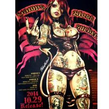 """Rockin' Jelly Bean Not for sell """"Vamps Blood Suckers"""" Poster RJB Rare Off set"""