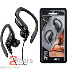 BLACK JVC HA-EB75B SPORTS ADJUSTABLE EAR CLIP EARPHONES HEADPHONES MP3 IPOD NEW