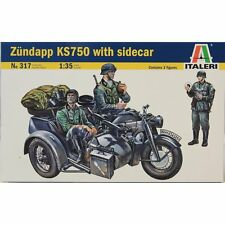 KIT ITALERI 1:35 ZUNDAPP KS750 WITH SIDECAR CON 3 FIGURE INCLUSE  ART 317