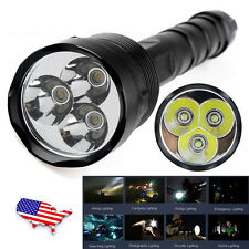 High Power 48000Lm 3x XM-L T6 LED 18650 Tactical Flashlight Torch Lamp From USA