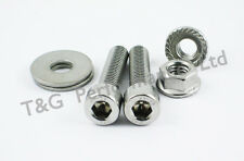 Suzuki RGV250 Stainless Exhaust Silencers / Exhaust Cans Hangers Bolts Kit