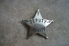 1920 California Deputy Sheriff Stock fancy style police badge star LA Stamp