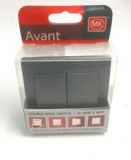 MK AVANT DOUBLE WIDE SWITCH 10A 2 WAY CHARCOAL 33922 RPCHABQ