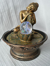 Indoor Sleeping Thai Buddha Water Feature Fountain Chainging Colour Light buddah