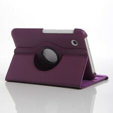Purple 360 Rotating Leather Case Cover Stand Samsung Galaxy Tab 2 7 Inch P3100