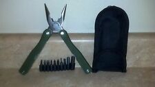 """VERY NICE Sports Afield Multi Tool 10 Function with 9 Bits Coated 4.5"""" Handle"""