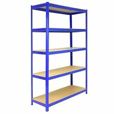 SHELF 1800 x900 x450 MM Garage Steel Racking Strong MDF Boltless 5 Tier 1 x BLUE