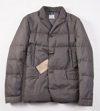NWT $1495 BORRELLI Quilted Down-Filled Outer Blazer Jacket 48/M Gray-Brown