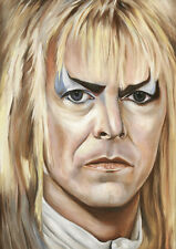 Jareth the Goblin King Labyrinth - David Bowie Portrait - Oil Painting Art Print