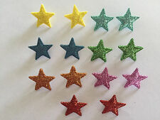Glittering multicoloured stars Novelty buttons by Dress It Up 8372