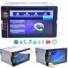 "2DIN 6.2"" HD Car Stereo CD DVD MP3 Player In Dash Bluetooth TV FM Radio 12V"