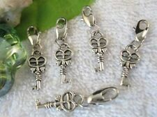 25PCS Tibetan Silver Cross Heart CLIP ON CHARMS W28456