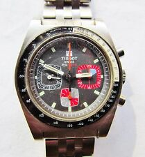 Rare Vintage Tissot PR516 3-Register Chronograph w/Pulse Monitor Wrist Watch