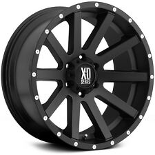 20 Inch Satin Black Wheels Rims LIFTED Jeep Wrangler JK JKU XD Series XD818 NEW