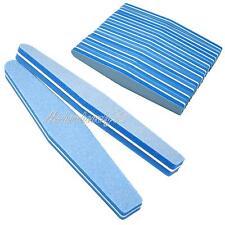 10 PSC Bleu Art Pour Les Ongles Sablage Dossier Polissage Bloc éponge carré