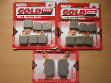 FULL SET SINTERED FRONT & REAR BRAKE PADS For: YAMAHA R1 2007-2010 GOLDFREN